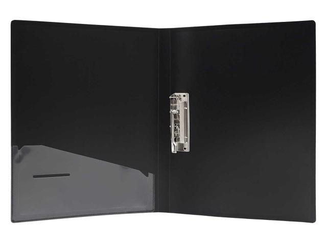 Папка с зажимом и карманом А4 черная 0.7мм Perlen Silwerhof 281903-76