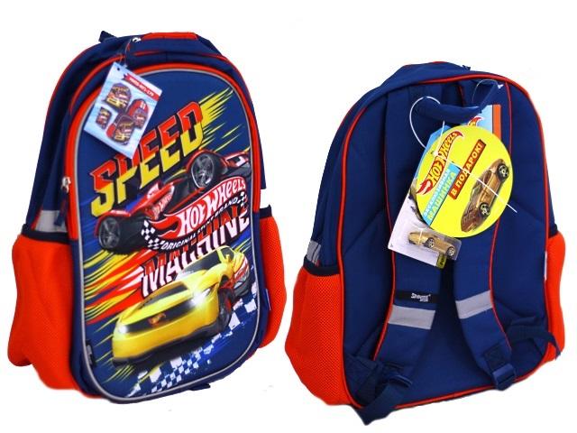 Ранец школьный Hot Wheels 39*30*13см + сумка для обуви + пенал HWEB-MT1-179-SET31