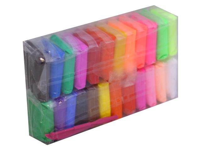 Пластилин сверхлегкий 24 цвета с инструментами Basir МС-4737