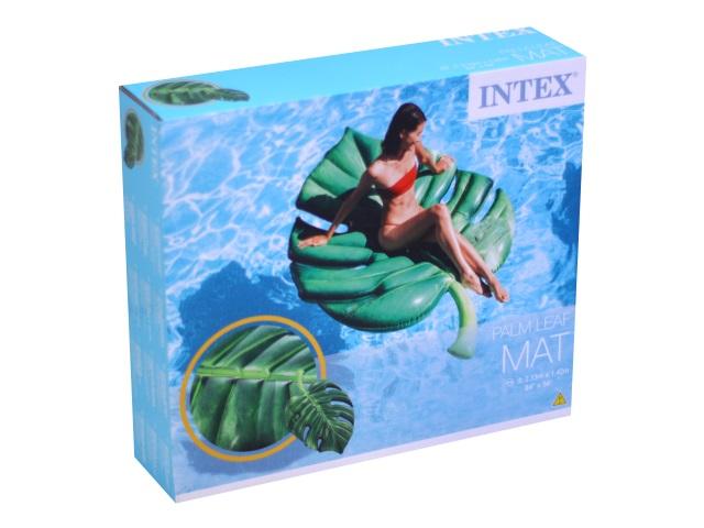 Матрац-плот Intex 213*142см Пальмовый лист 58782