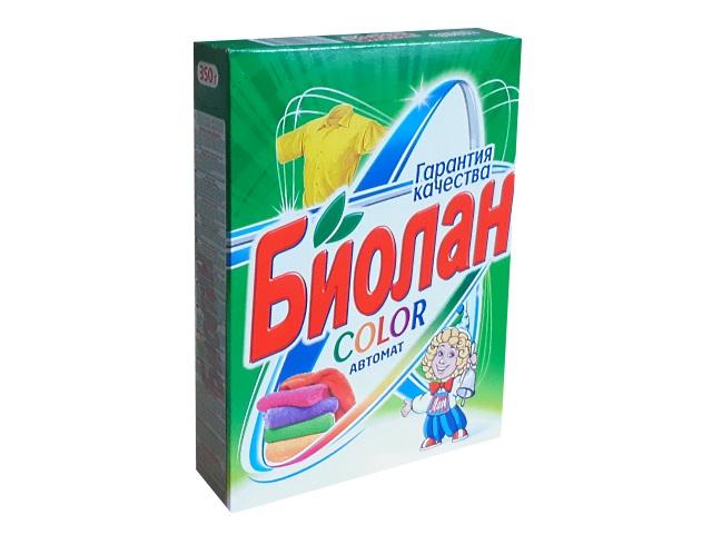 Порошок стиральный автомат  350г Биолан Color