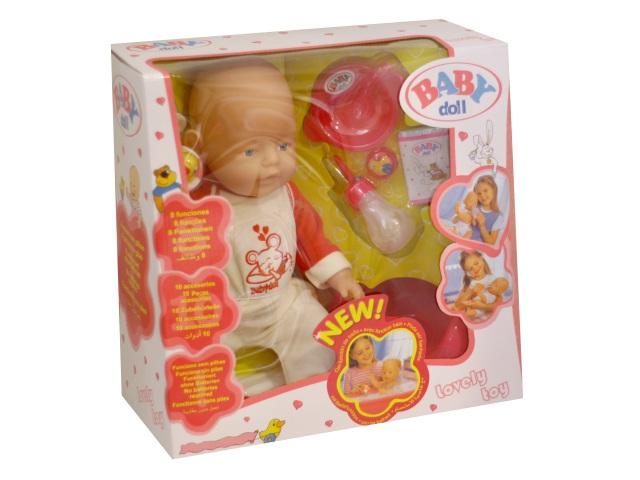 Пупс функциональный Baby Doll 43см с аксессуарами B1407520