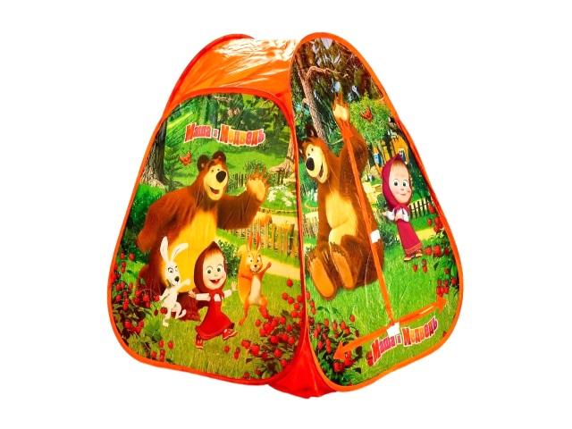 Палатка игровая Маша и медведь 81*91см Играем вместе GFA-MB01-R