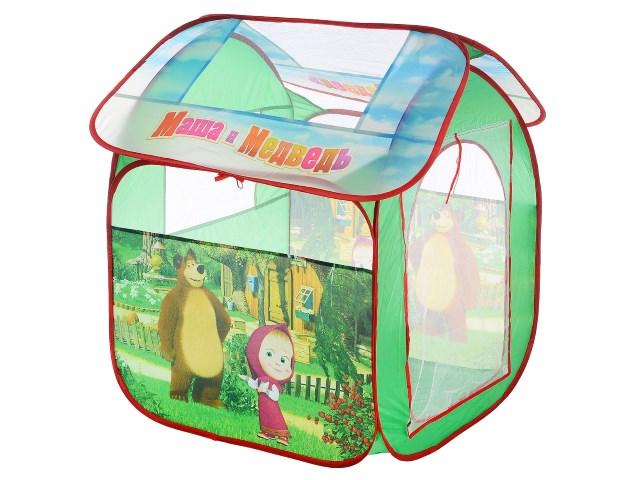 Палатка игровая Маша и медведь 83*105см Играем вместе GFA-MB-R