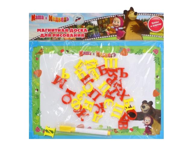 Доска магнитно-маркерная 30*22см Маша и медведь Играем вместе L787-H27560-MB