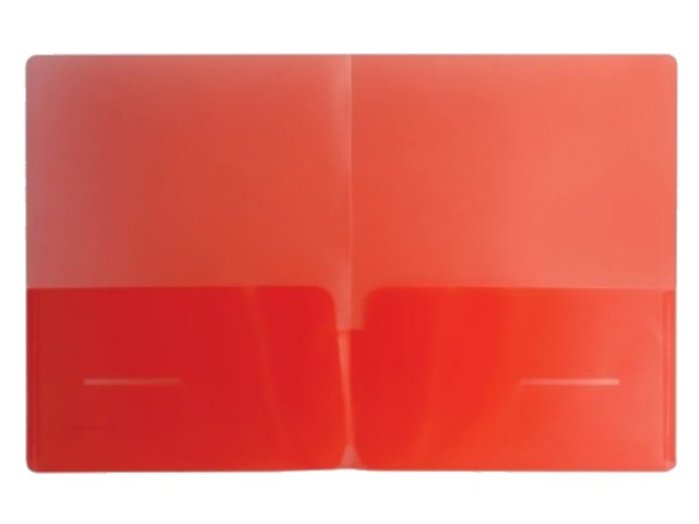 Уголок А4 180мкм 2 кармана Бюрократ цветная E570-1