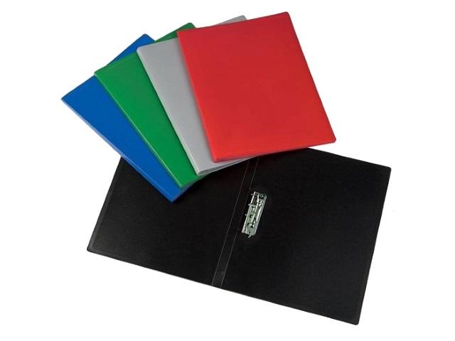 Папка с зажимом А4 цветная 0.4мм Economy Бюрократ EC04C