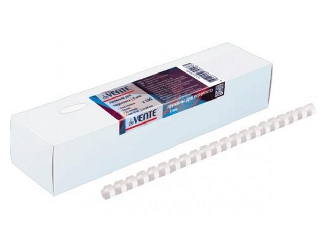 Пружины для брошюровки  8 мм белые 100 шт. DeVente 4125502
