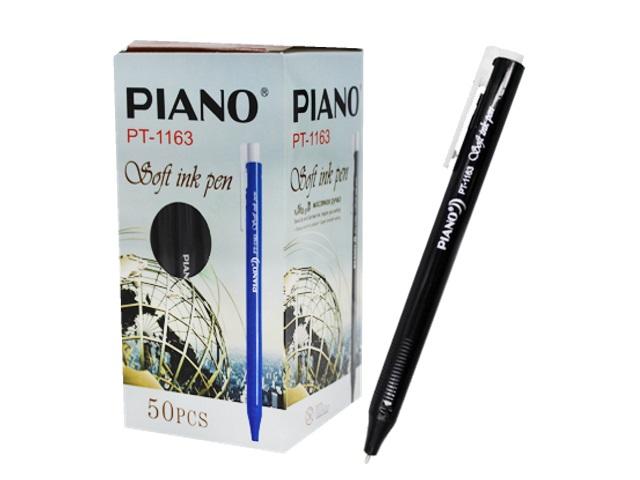 Ручка масляная автомат Piano PT-1163 черная 0.5мм трехгранная