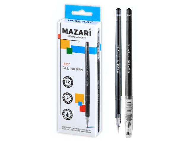 Ручка гелевая Mazari Lexy черная 0.5мм М-5507-71