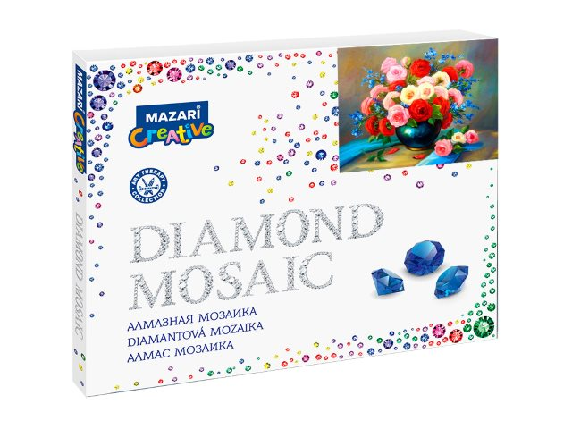 Алмазная мозаика 40*50см Яркий букет Mazari M-10164