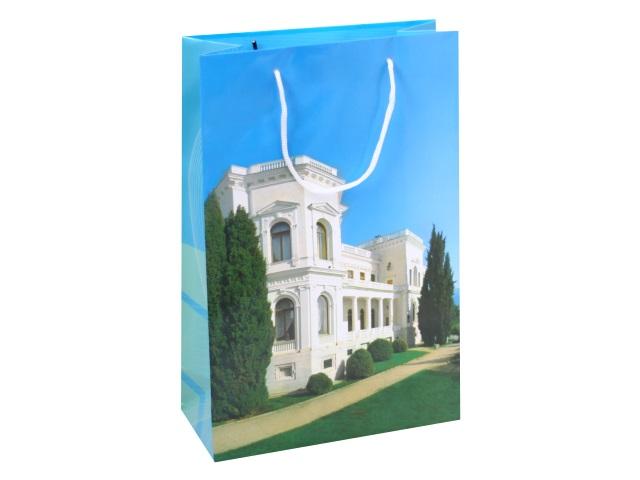 Пакет подарочный бумажный 35*23*11см Крым Ливадия 00008