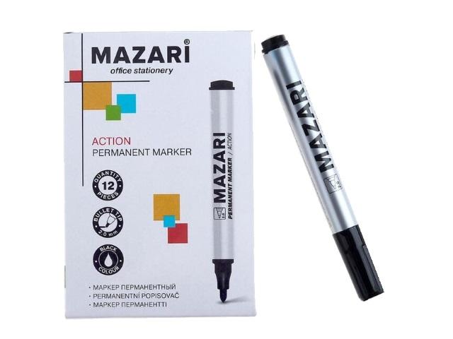 Маркер перманентный Mazari Action черный круглый 2мм М-5007-71