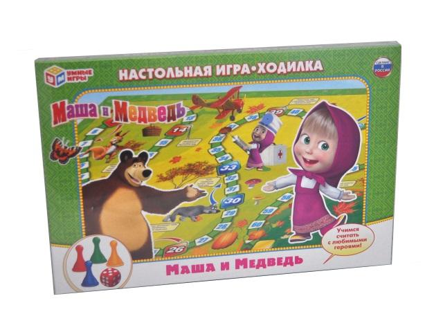 Настольная игра-ходилка Маша и медведь Умка