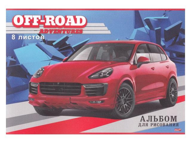 Альбом  8л А4 на скобах Красный автомобиль Profit 08-4490