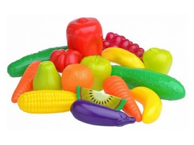 Фрукты Овощи 15 предметов пластик Орион 379