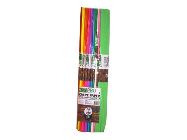 Гофробумага Darlens 10 шт. цветная 50*200 см DL-PRO00029