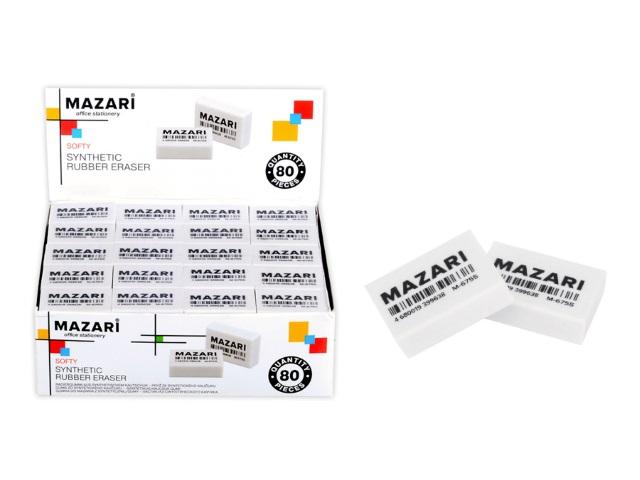 Ластик Mazari Softy прямоугольный белый M-6755\80\640\1280