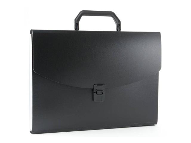Портфель А4 пластик Бюрократ  6 отделений черный BPP6BLCK