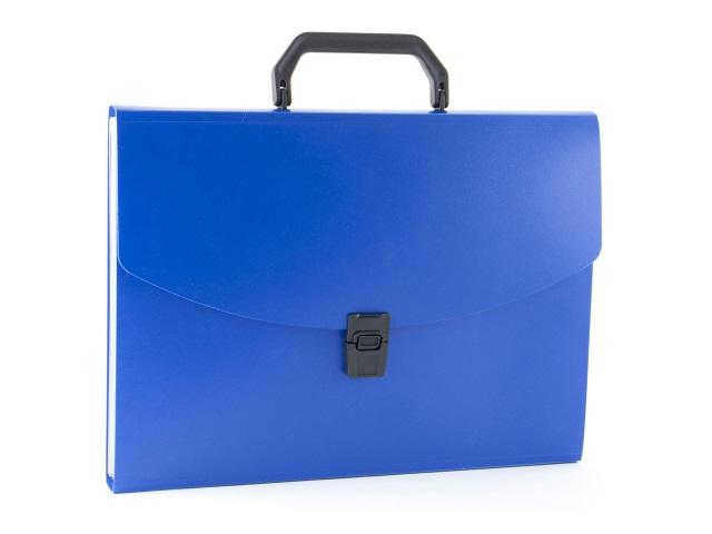 Портфель А4 пластик Бюрократ  6 отделений синий BPP6BLUE