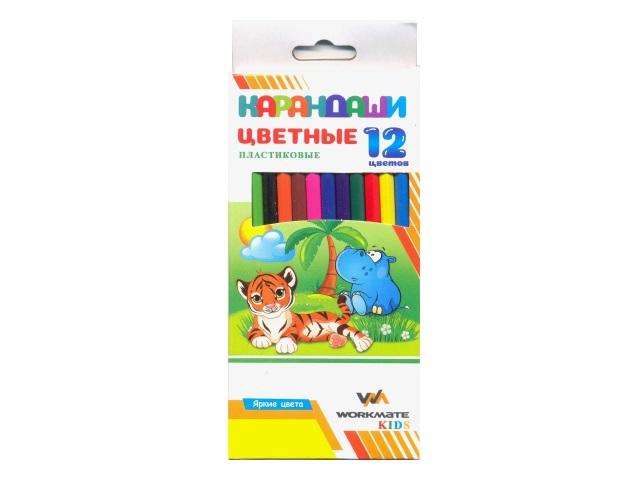 Карандаши цветные 12цв WM Kids шестигранные 171120300