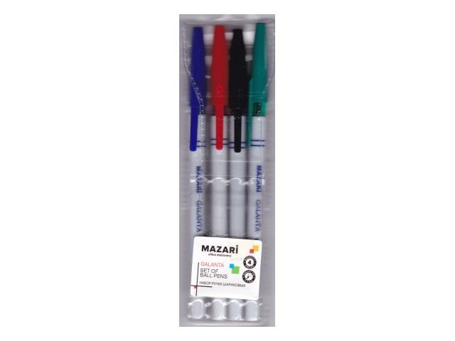 Ручка шариковая набор  4цв Mazari Galanta 0.7мм М-5900-4