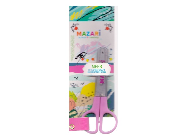Ножницы детские 12 см пластиковые ручки Meer Mazari M-5611