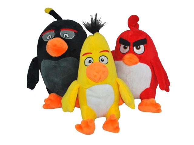 Мягкая игрушка Angry Birds на присоске цветная 17см