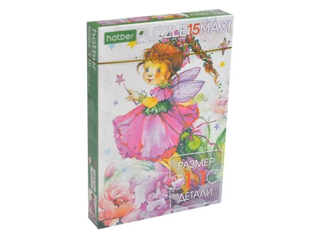 Пазлы Maxi 15 деталей Цветочные феи Hatber 15ПЗ4_17377