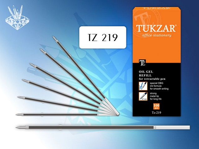 Стержень масляный 106 мм, синий 0.7 мм, автоматический, Tukzar