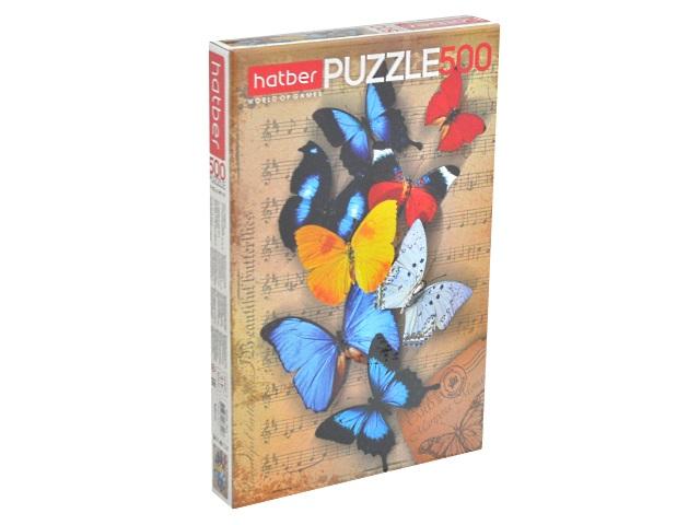 Пазлы  500 деталей Бабочки Hatber 500ПЗ2_10877