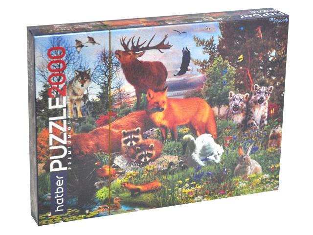 Пазлы 2000 деталей Лесные жители Hatber 2000ПЗ1_22255