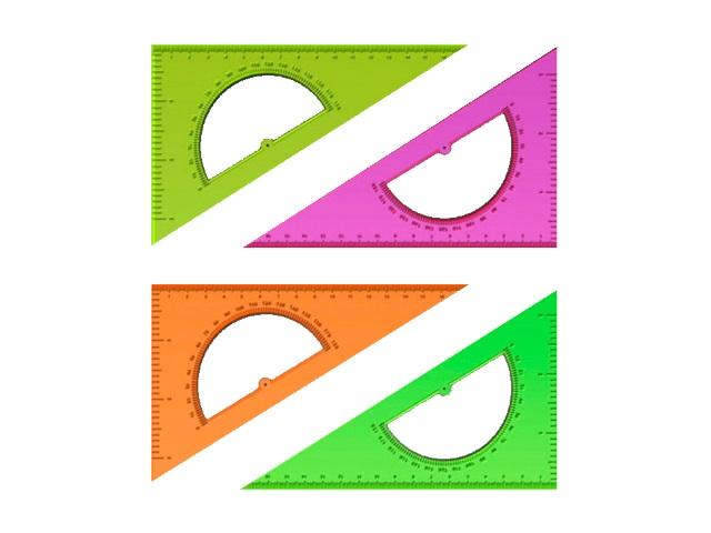 Треугольник 16 см 30*60*90 неон цветной Стамм ТК010