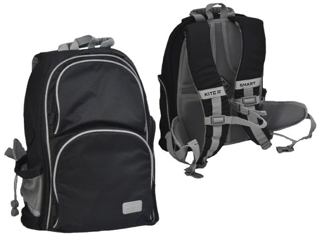 Ранец школьный Kite Education Smart 38*28*15см черный + подарок K19-702M-4