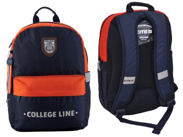 Ранец школьный Kite College Linе 38*26*11см сине-красный K19-719M-2