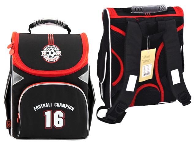 Ранец школьный Football Champion 34*26*13см черно-красный Kite GO18-5001S-20