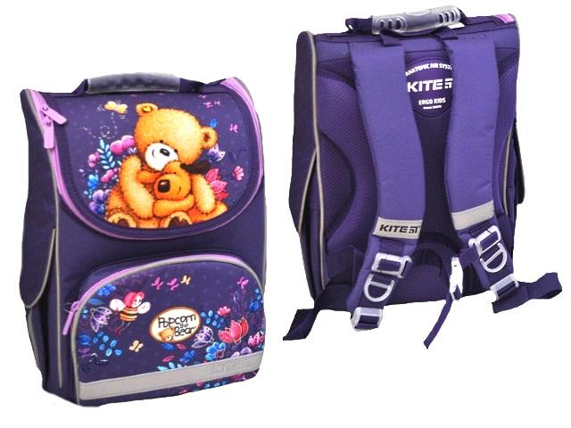 Ранец школьный Kite Popcorn the Bear 35*25*13см фиолетовый PO19-501S