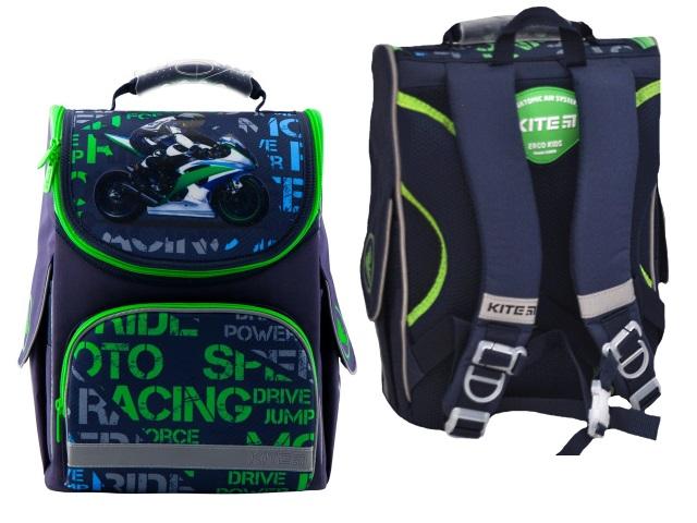 Ранец школьный Kite Racing 35*25*13см сине-зеленый K19-501S-12