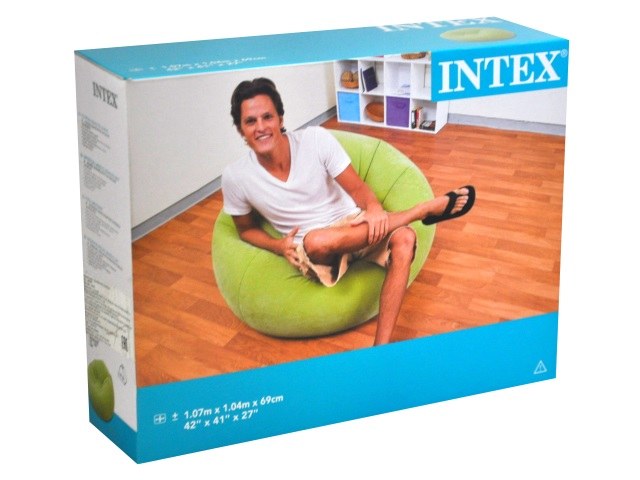 Кресло-мешок велюр Beanless Bag Intex 68569