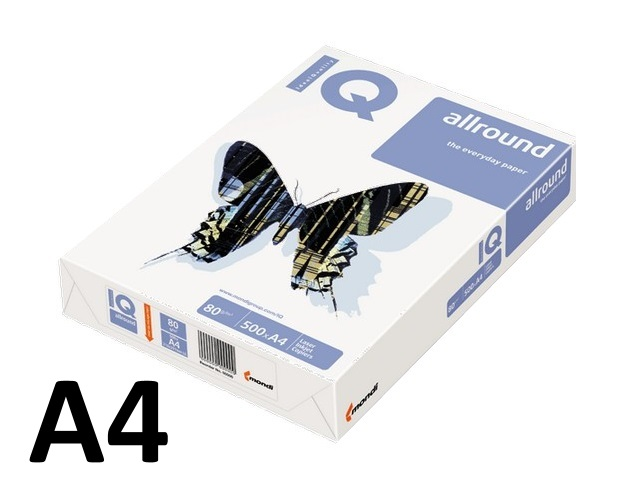 Бумага  А4  80 г/м2 500 л. IQ Allround класс В