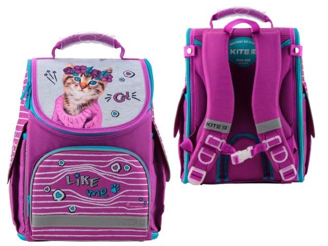 Ранец школьный Kite Cat 35*25.5*13см розовый R19-500S