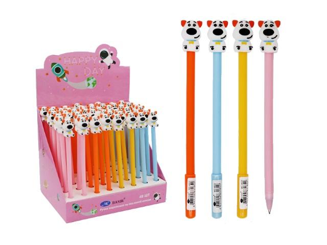 Ручка масляная Basir Собачка синяя 0.5мм МС-4622