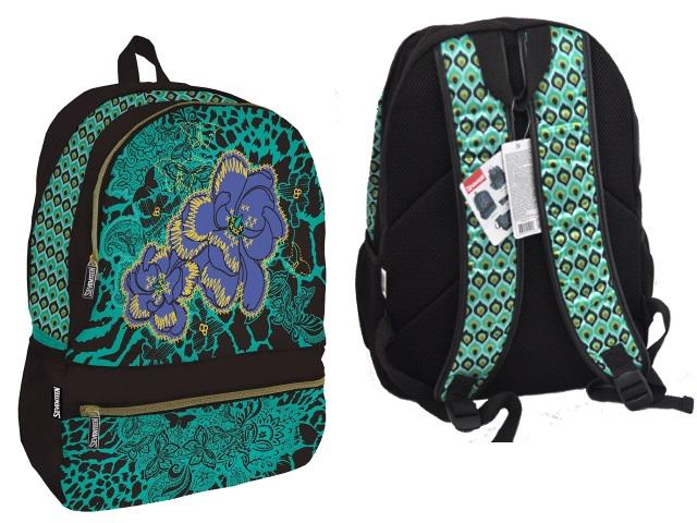 Рюкзак Seventeen 42*31*15см коричнево-зеленый AG SVBB-RT3-701