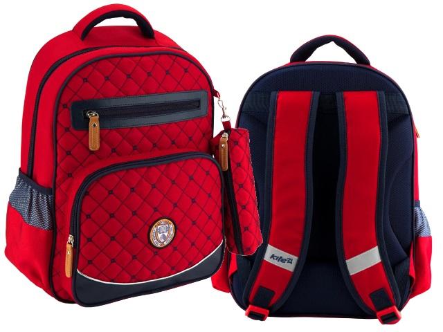 Ранец школьный College Line красно-синий с пеналом Kite K18-734M