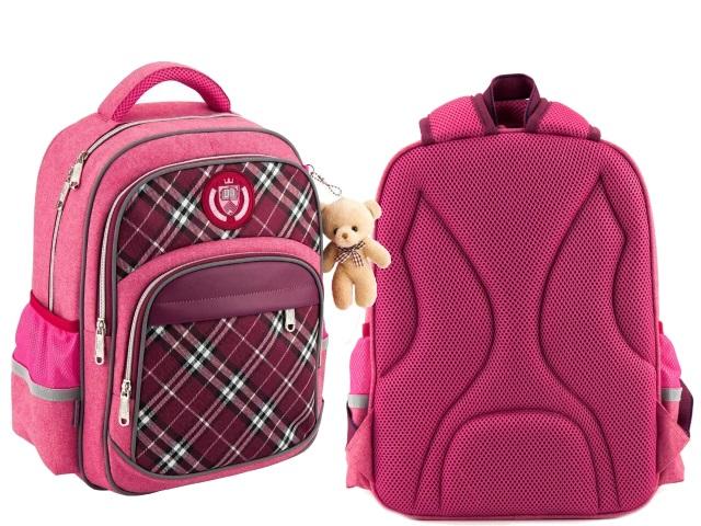 Ранец школьный Kite College Line 38*28*15см розовый с брелком K18-735M-1