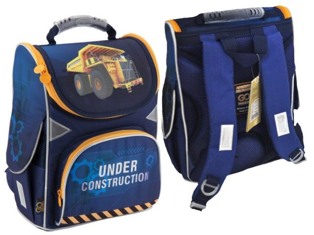 Ранец школьный Under Construction 34*26*13см синий Kite GO18-5001S-26