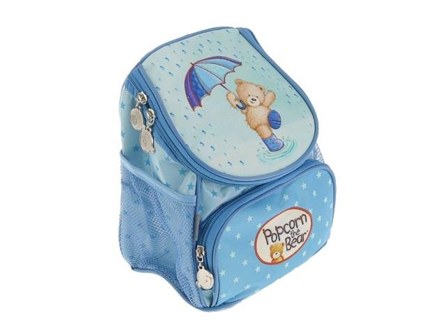 Рюкзак детский Kite Popcorn the Bear 24.5*20*14см голубой PO17-535XXS-1