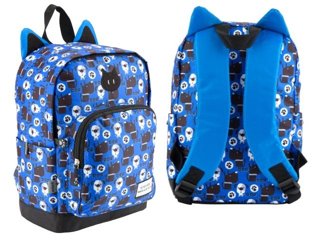 Рюкзак детский Kite Собачки 32*21*10см синий K18-539XS-2