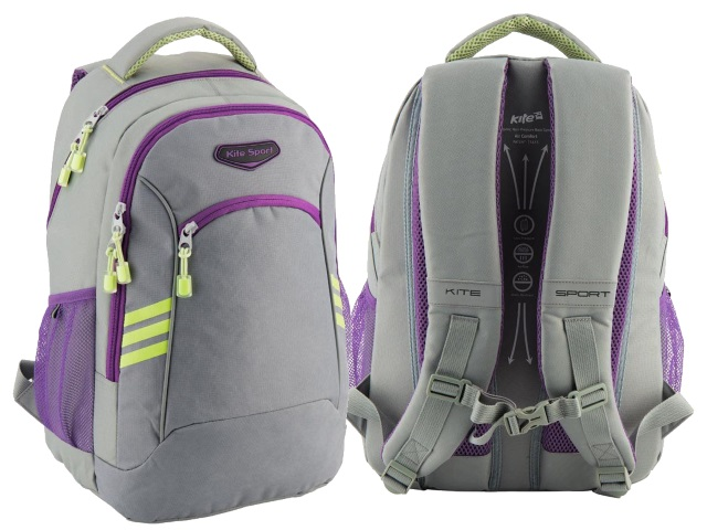 Рюкзак Kite Sport 44*31*17см серый K18-813L-1