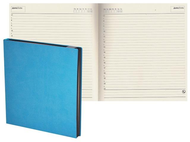 Ежедневник А5 прорезиненая/обл 136л J.Otten In Colour голубой 17513601